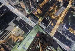 Up in the air (tomms) Tags: city urban up high construction downtown crane vertigo lookdown metropolis redlight rooftopping