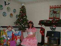 Xmas sissy (shellyanatine) Tags: pink dress crossdressing sissy petticoat frilly