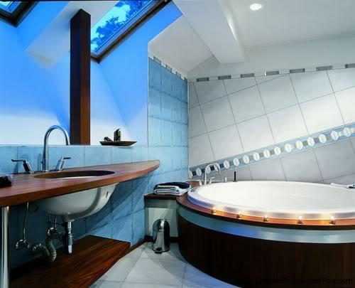 Banheiros com banheiras decorado