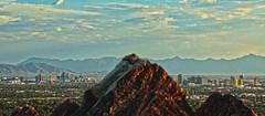 Phoenix Skyline (Tyler J. Bolken) Tags: city sunset sky mountains colors phoenix beautiful skyline clouds canon photography desert redrock squawpeak valleyofthesun tylerjbolken