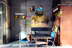 Bang Rak Fire Station (m-louis) Tags: painting poster table thailand chair bangkok interior j3 nikon1 bangrakfirestation bkk2013