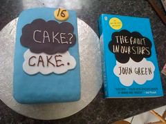 Cake? Cake. (LumosStar684) Tags: birthday blue our green cake john stars baking books birthdaycake decorating fault icing 16 16th 16thbirthday johngreen nerdfighter vlogbrothers 16thbirthdaycake tfios thefaultinourstars