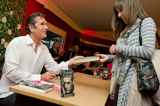 Rupert Everett signs copies of his book