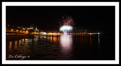 Scarborough Fireworks (Lee Collings Photography) Tags: reflections fireworks yorkshire scarborough pyrotechnics waterreflections reflectionsinwater reflectionsatnight reflectionsoverwater fireworkreflections reflectionsacrosswater