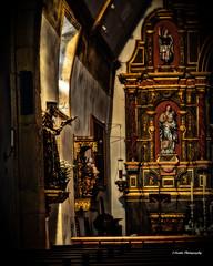 Carmel Chapel (stephencurtin) Tags: california light usa color gold coast shrine natural statues chapel system gild photograph carmel mission ornate