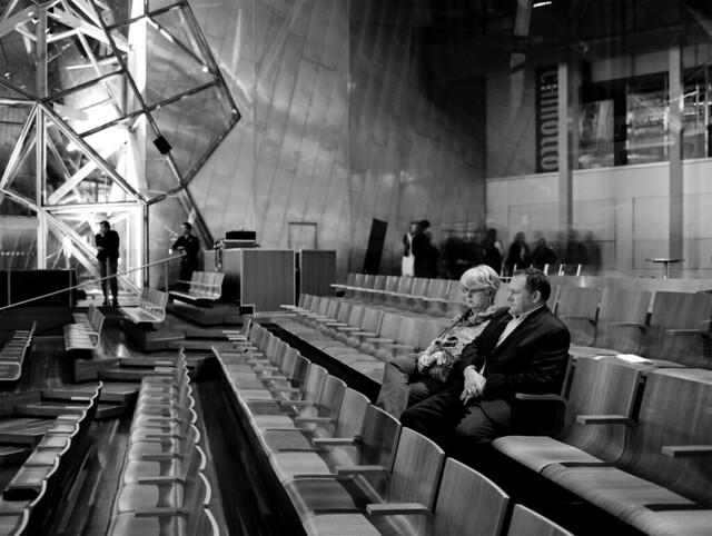 urban 50mm kodak tmax australia federationsquare melbourne victoria indoors bronica 100 128 tmx 50mmf28 etrsi zenza bmwedge 6052 zenzanon zenzanonmc deakinedge godihatetaggingthings boobsmighthelp peopleinchairsinamodernistbuildinglookingunimpressed