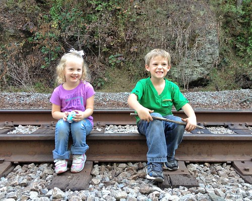 Exploring the train tracks