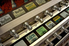 vending knobs (danbruell) Tags: old school wheel cheese bar work fun pull university antique michigan cigarette detroit bad feather pack health bowling smokey smokes knob vending dentistry league outing unhealthy teambuilding cadieuxcafe featherbowling