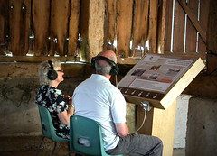 English Heritage, Harmondsworth Barn 6 button listening point