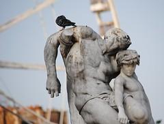 Tortures never stop (sendroiu) Tags: paris armpit statue pigeon jardin torture ferriswheel tuileries spartacus oath jardindestuileries pigeonshit barrias louisernestbarrias lagranderoue lesermentdespartacus
