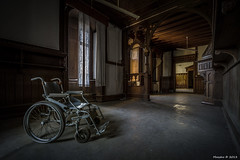 House of Wheelchairs HDR (04) (Maestro-Photography) Tags: house castle abandoned home farmhouse canon hospital ruins decay farm exploring places ruine forgotten urbanexploration 7d villa mansion huis chateau sanatorium maison deserted hdr decayed ziekenhuis kasteel wheelchairs urbex woning resthouse verval rolstoel verlaten bejaardenhuis leegstaand