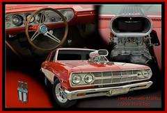 1964 Chevelle Malibu (Brad Harding Photography) Tags: red ottawa chevelle malibu 64 chrome kansas customized coupe gmc streetrod 1964 2door generalmotorscompany olmaraisriverruncarshow