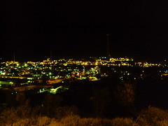 Mt Isa mines at night.