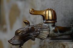 From Where Holy Water Flows (Derek John Lee) Tags: web gargoyle bulgaria tap drinkingfountain monastic holywater