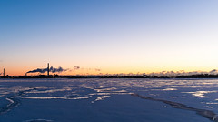 Ice Fog (Empty Quarter) Tags: morning blue winter chimney snow toronto cold ice fog sunrise island islands twilight downtown factory fuji harbour quay steam queens hour harbourfront fujifilm x100s