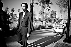 Tongue Roller (Pedestrian Photographer) Tags: california park trees boy shadow bw white lake black male cali tongue palms out walking los afternoon angeles walk echo son palm suit trail teen tuxedo roller roll pm tux ep sticking treet tonguing heredity hereditary dsc2444