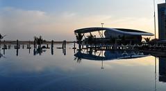 Scotts across the pool (Beth PH) Tags: uae emirates abudhabi grandmosque sheikhzayedmosque jumeirahatetihadtowers yasmarinaf1circuit