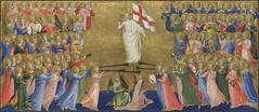 Central predella panel, Christ Glorified in the Court of Heaven, about 1423-4, Fra Angelico (Bart De Roy) Tags: harp lute portativeorgan shawm