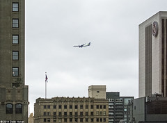 Boeing Seahawks 747-8F Test Flight 2014-01-30 (DWHonan) Tags: seattle city test building skyline washington flight super bowl wa seahawks boeing 747 48 7478f