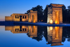 Madrid Blue Hour Reflections - EXPLORED! Thank you :-) (Fotomondeo) Tags: madrid españa water reflections temple lights luces spain agua nikon bluehour hdr templo reflejos templodedebod horaazul nikond7000