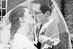 march 1st (Vanessa Vokey) Tags: winter wedding roses party portrait white snow cold flower building brick beautiful yellow sisters beads engagement kiss couple photographer shine married veil lace ceremony ivory marriage husband velvet sparkle suit rings tuxedo portraiture fancy wife romantic gown satin engaged tux beaded