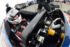 Graham Rahal sits in his car on pit lane during the 2014 Open Test at Barber Motorsports Park (IndyCar Series) Tags: barbermotorsportspark grahamrahal meteringmode5 isospeedrating800 focallength16010 rahallettermanlaniganracing fnumber10010 cameranikond4 exposure102000 2014opentest