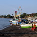 Sunset activities on Pantai Anturan