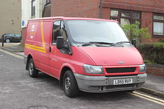 The Pink ... Post-van . (AndrewHA's) Tags: pink ford mail royal transit delivery van postman bishopsstortford ld55ruy