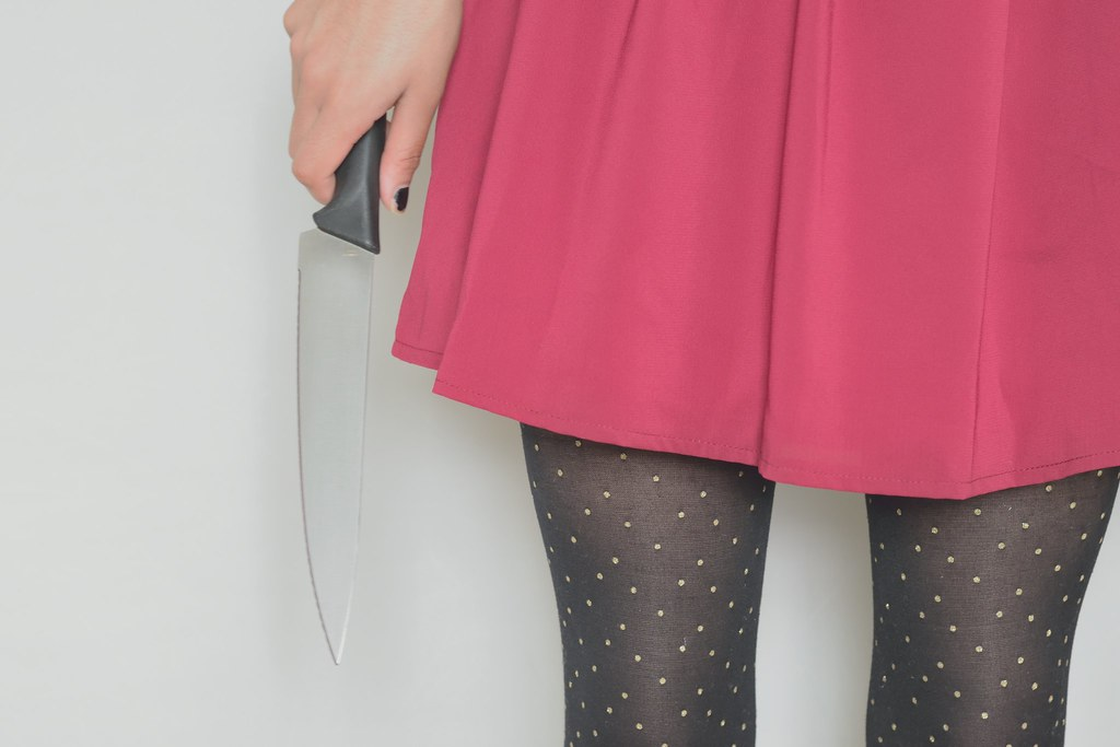 Knife and girls dress