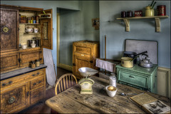 1930's Kitchen (Darwinsgift) Tags: black country living museum dudley birmingham england retro vintage antique thirties 1930s hdr photomatix pce nikkor 24mm f35 nikon d810 kitchen scales cuboard ngc