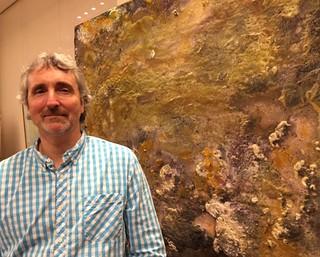 Artist George Bethea at his Sonesta Hotel reception in Coconut Grove