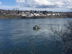 Using underwater camera to find source (EcologyWA) Tags: columbiariver wenatcheespill spill response water ecology washington wenatchee columbia river