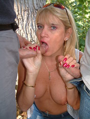 woods 095 by sexysueuk - dirty whore slut in the woods with two of her lovers Use all my pic's and repost all over the web.love being a web whore.xx
