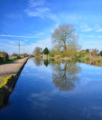 Bridgewater Canal month three March (Joan's Pics 2012) Tags: bridgewatercanal travel water trees 12monthsofthesameimage leigh blue explore