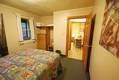 Cabin 9 queen master bedroom First Landing State Park (vastateparksstaff) Tags: cabin cinderblock 2bedroomcabin