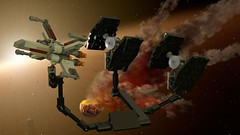 In a galaxy far away ... (Star Wars MOD) (thejiral) Tags: lego starwars xwing tiefighter mod