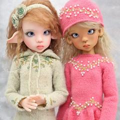 Girls ♥ (Maram Banu) Tags: doll bjd kayewiggs msd laryssa layla handmade marambanu portrait green pink fairystyle