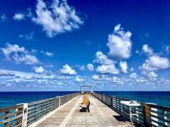 Blue dream (PeterCH51) Tags: usa florida pier lakeworth lakeworthbeach sea sky ocean blue white peterch51 beach