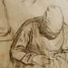 MILLET Jean-François - Couseuses, Etude (drawing, dessin, disegno-Louvre RF243) - Detail 08