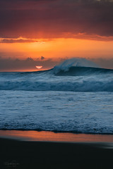 Sun Craving (Heather Smith Photography) Tags: water island surf oahu hawaii pipeline northshore orange blue waves roostertail crashing wave
