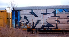 KING (Chicago City Limits) Tags: king graffiti graff auto rack autorack autoracks racks holy roller rollers freights freight train bench benching trains fr8 spray paint art artwork wholecar whole car steel rail rails railroad