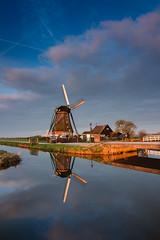 20170311-Canon EOS 6D-2743 (Bartek Rozanski) Tags: aarlanderveen zuidholland netherlands holland nederland groenhart windmill dutch winter sunrise polder