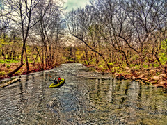 Whimsical Wednesday: Tailgator (boriches) Tags: river canoe spring