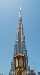 Burn Khalifa with Lamp... (Inian4mIndia) Tags: burj khalifa tallest tall building world beautiful one dubai tower high highrise structure day nikon