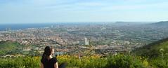 Goodbye, Barcelona! (marinadelcastell) Tags: city ville stadt città ciudad ciutat sea mer meer mare mar hill colline hügel collina colina turó barcelona panorama panoramabild panoramica puigcastellar