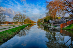 A Beautiful Morning along the Canal (kendoman26) Tags: hdr nikhdrefexpro2 nikon nikond7100 tokinaatx1228prodx tokina tokina1228 imcanal iandmcanal imcanaliandmcanal morrisillinois travelillinois enjoyillinois reflection wetreflection