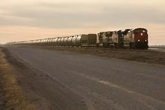Manifest at Diamond - Headingley, MB (CWentzell Photography) Tags: cn ic rail railroad railway freight train illinois central canadian national winnipeg diamond headingley manitoba canada sunset