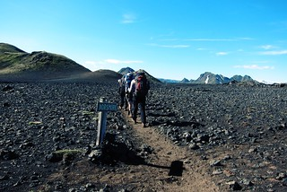 Iceland ~ Landmannalaugar Route ~  Ultramarathon is held on the route each July ~ Lava Bed Rock