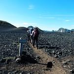 Iceland ~ Landmannalaugar Route ~  Ultramarathon is held on the route each July ~ Lava Bed Rock thumbnail