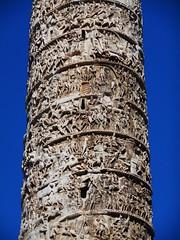 Emperor Marcus Aurelius' historiated column (180-196 AD) - Piazza Colonna in Rome (Carlo Raso) Tags: marcusaurelius column rome italy romanempire